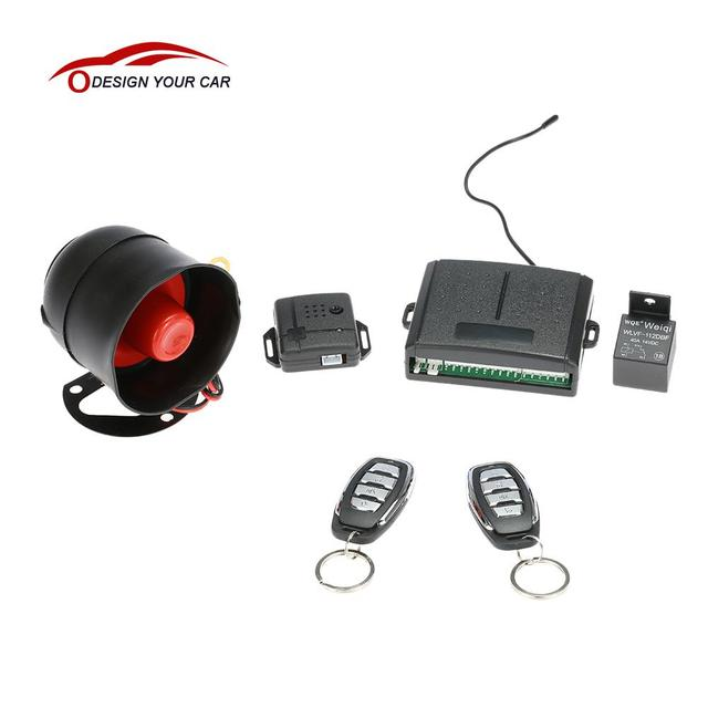 1-Way Auto Car Vehicle Security System Protection Burglar Alarm with Siren 2 Remote for Kia Rio Skoda Subar Honda Civic Audi A3