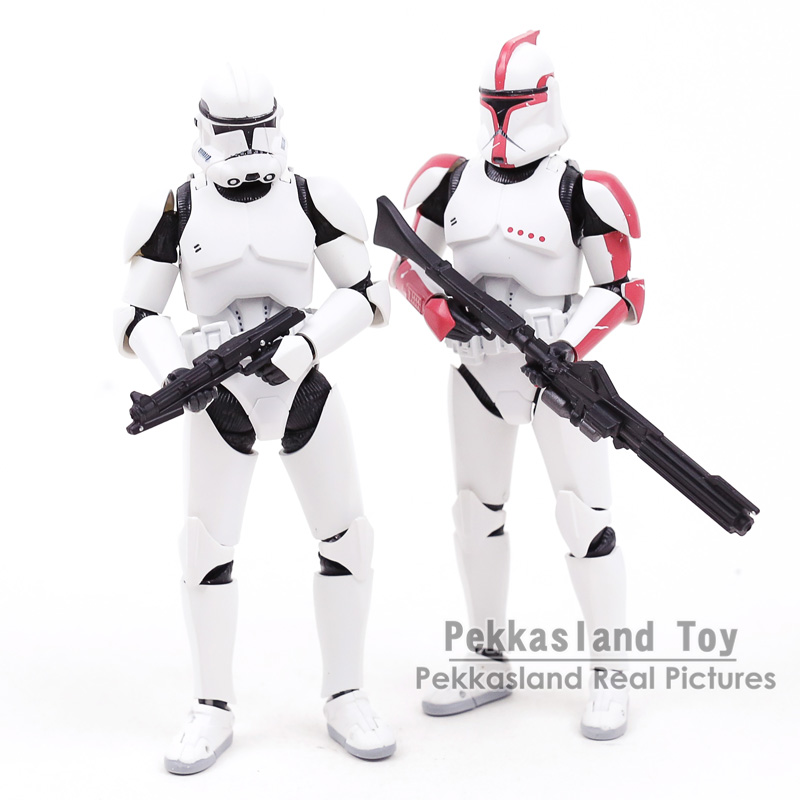 SHF S.H.Figuarts Star Wars Phase 1 Clone Trooper Captain / Phase 2 Clone Trooper PVC Action Figure Collectible Model Toy 15CM ...