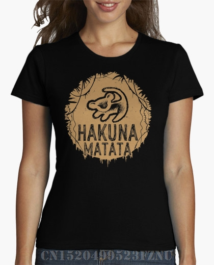 Summer black friday t-shirt womens Hakuna Matata Short sleeves Print Knitted hip hop tees girl Clothing ...