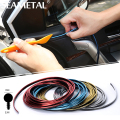 5M/Lot Car-styling Car Stickers and Decals DIY 3d Sticker Car Moulding Trim Interior Decoration Thread Strip Auto Accessories