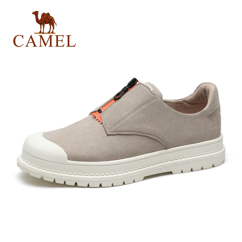 CAMEL Women's Shoes New Fashion Tooling Low White British  Style Wear-resistant Anti-slip Female Casual Shoes