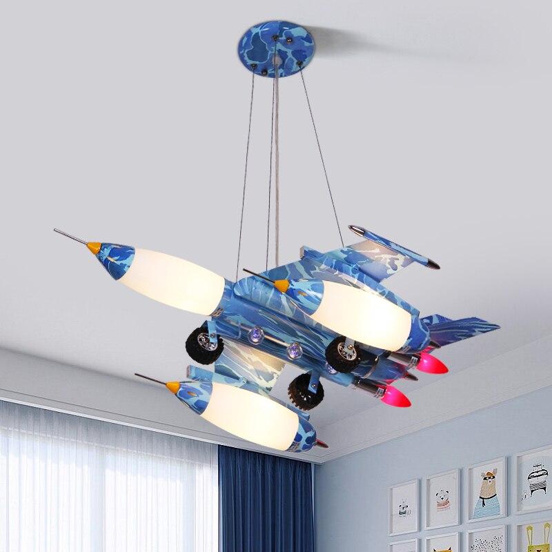 LICAN Modern Led Pendant Lights Lustre Lamparas De Techo Boys Girls Children Airplane Cartoon