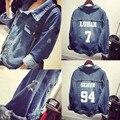 Exo kpop рубашка одежда отверстие джинсовый жакет пальто женщина bts k-pop бейсбол равномерное толстовка с капюшоном топы Bangtan Мальчики Outerwears
