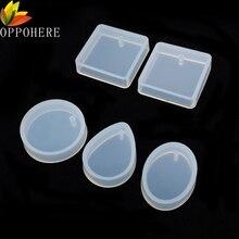 OPPOHERE 1/5 шт Силиконовые DIY подвесные формы для изготовления ювелирных изделий, полимерные литые формы для рукоделия