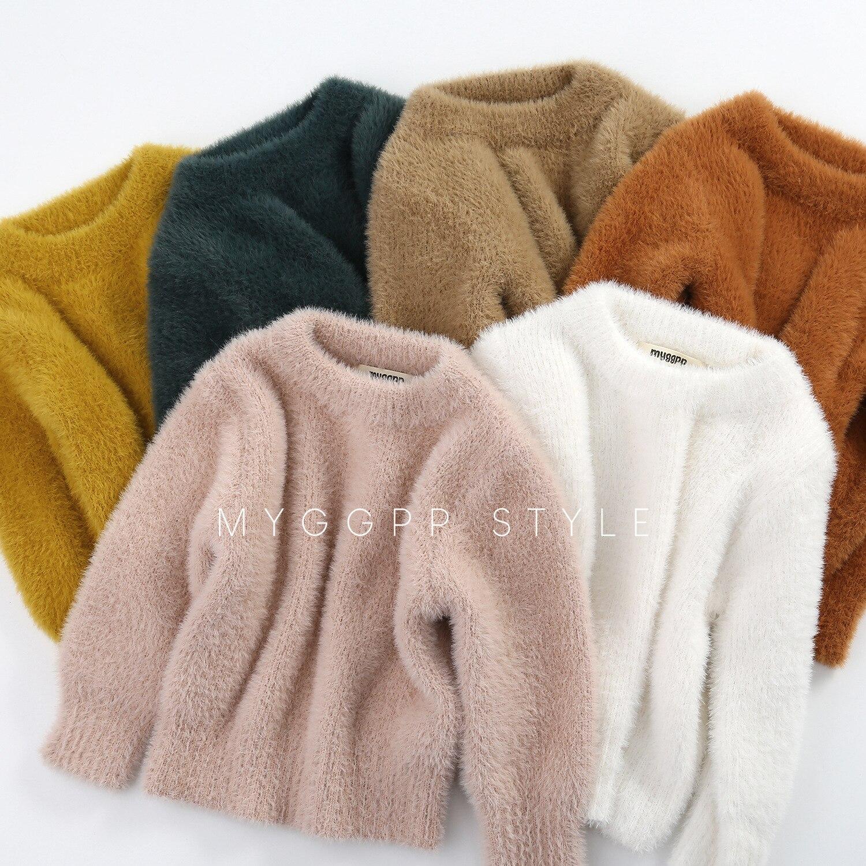 US $13.99 25% OFF|Girls' Sweaters Winter Wear New Style Imitation Mink Jacket Sweater 1 3 Year Old Baby Warm Coat Kids Sweaters|Sweaters| AliExpress