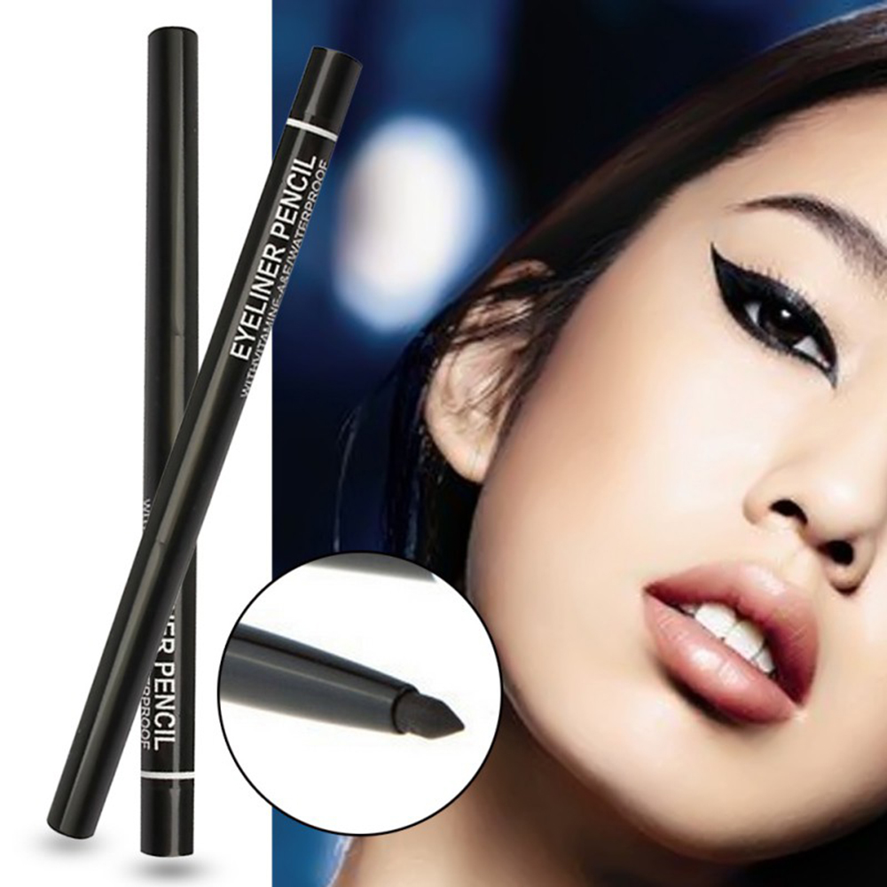 1Pcs Black Eyeliner Pencil Long Lasting Eye Liner Pen Rotating Waterproof Sweatproof Not Blooming Cosmetics Makeup Tools TSLM2