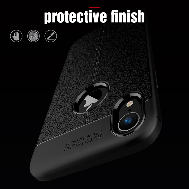 Carbon Silicone Case For iPhone Xs Xs Max Case 360 Luxury Leather Soft TPU Case For iPhone Xr Xs Max X 10 Case Coque             (12)