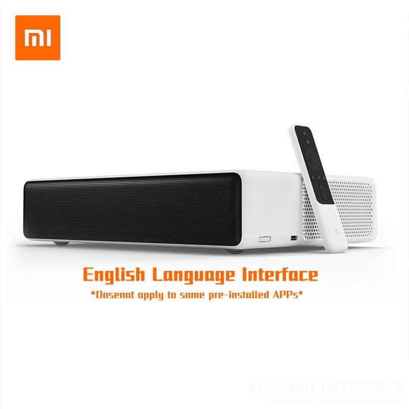 """Оригинальный Xiaomi Mijia лазерная проекция ТВ 150 """"дюймов 1080 Full HD 4 К Bluetooth 4,0 Wi-Fi 2,4/5 ГГц английский Интерфейс DOLBY DTS 3D"""