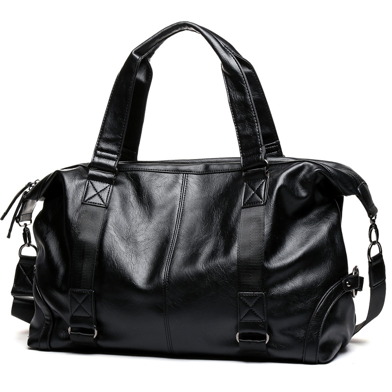 Brand Men Handbag Leather Large Capacity Travel Bag Shoulder Bag Male Tote Travel Duffle Bag Men
