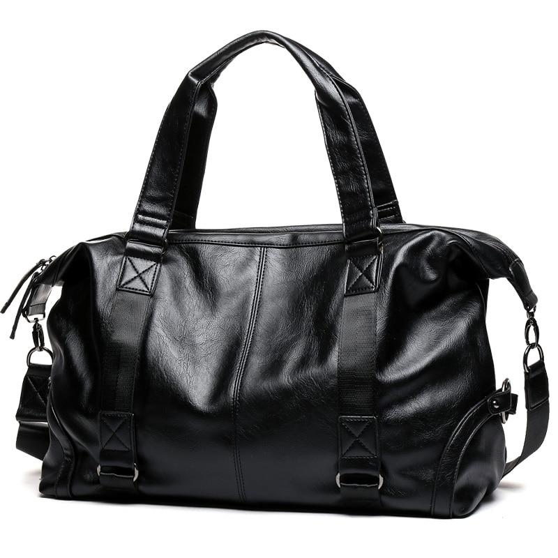 Brand Men Handbag Leather Large Capacity Travel Bag Shoulder Bag Male Tote Travel Duffle Bag Men Casual Messenger Crossbody Bags