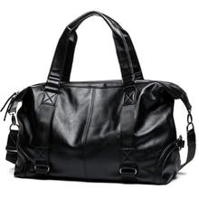 Brand Men Handbag Leather Large Capacity Travel Bag Shoulder
