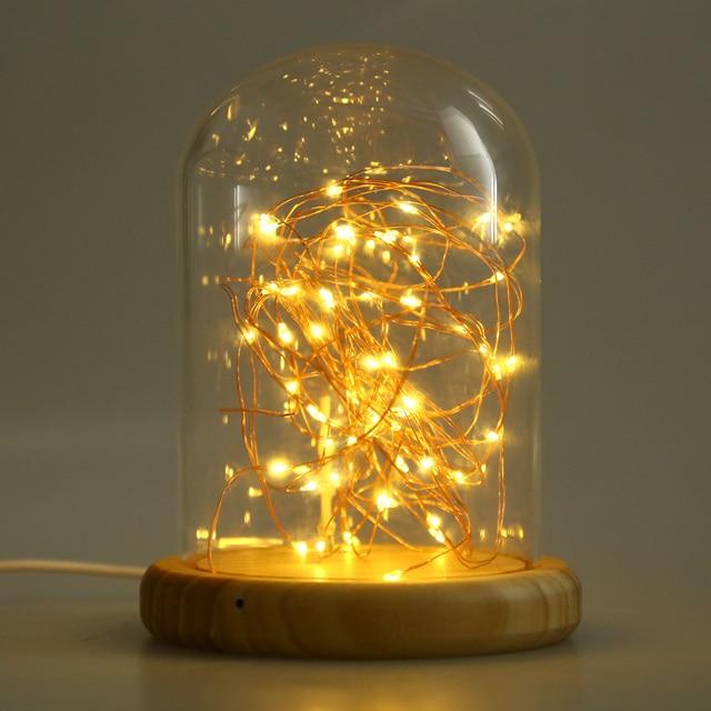 Modern table lamp coffee shop table light glass cover wood base led line light desk lamp