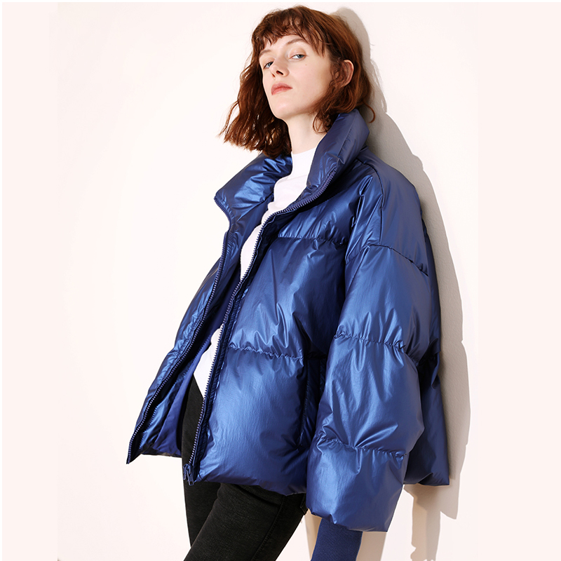 Winter Jacket Women 2019 Winter Glossy White Duck   Down   Parka Women's Waterproof   Coat   Thick Parka Loose Warm Female Jackets