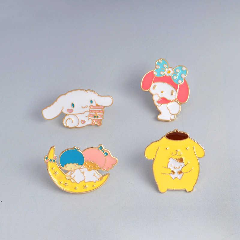 QIHE takı japon tarzı pimleri japon animesi rozetleri melodi Cinnamoroll kart Captor Totoro suşi Sakura karikatür emaye pin