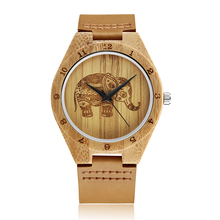 GORBEN W105 Unique Wood Watches Male With Elephant Pattern D