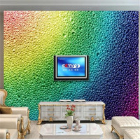 3D Custom Wallpapers Abstract Art Painting Murals Coloured Water Beads Glass Wall Paper For Living Room