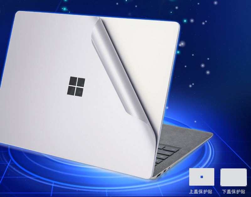 For Microsoft Surface Laptop Full Body Skins 2 In 1 Anti-scratch Ultra Thin Removable Bubble Free Decal Laptop Sticker (2017+)