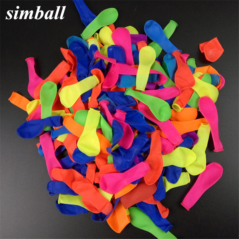 <font><b>500pcs</b></font> No3 Balloon Fluorescence Round Latex Small Balloons Shooting Game Balloons In The Air Wedding Party Fun Toy Bomb Balloons image