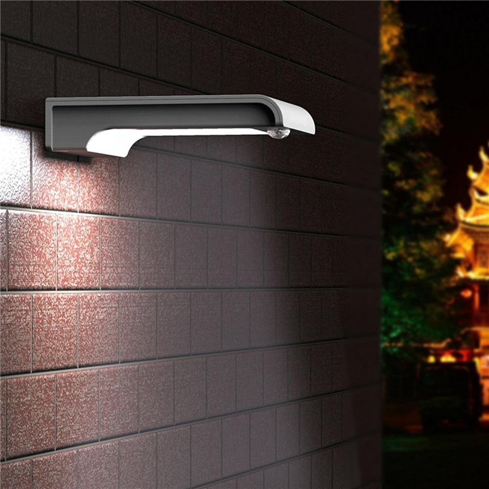 20pcs LEDs Home Wall Solar Lights PIR Motion Sensor Detector Gutter Sun Power LED Lights Door