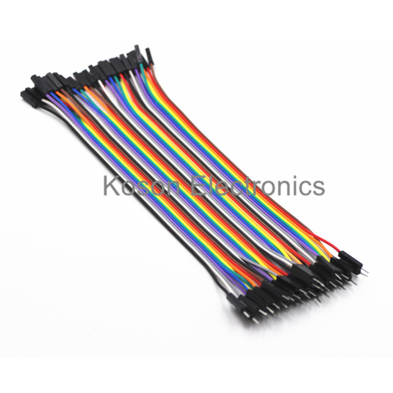 Wholsale 1 Row 40pcs Dupont Cable 20cm 2.54mm 1pin 1p-1p Female to Male jumper wire for Arduino декор blau fifth avenue dec tyffanny a 25x75