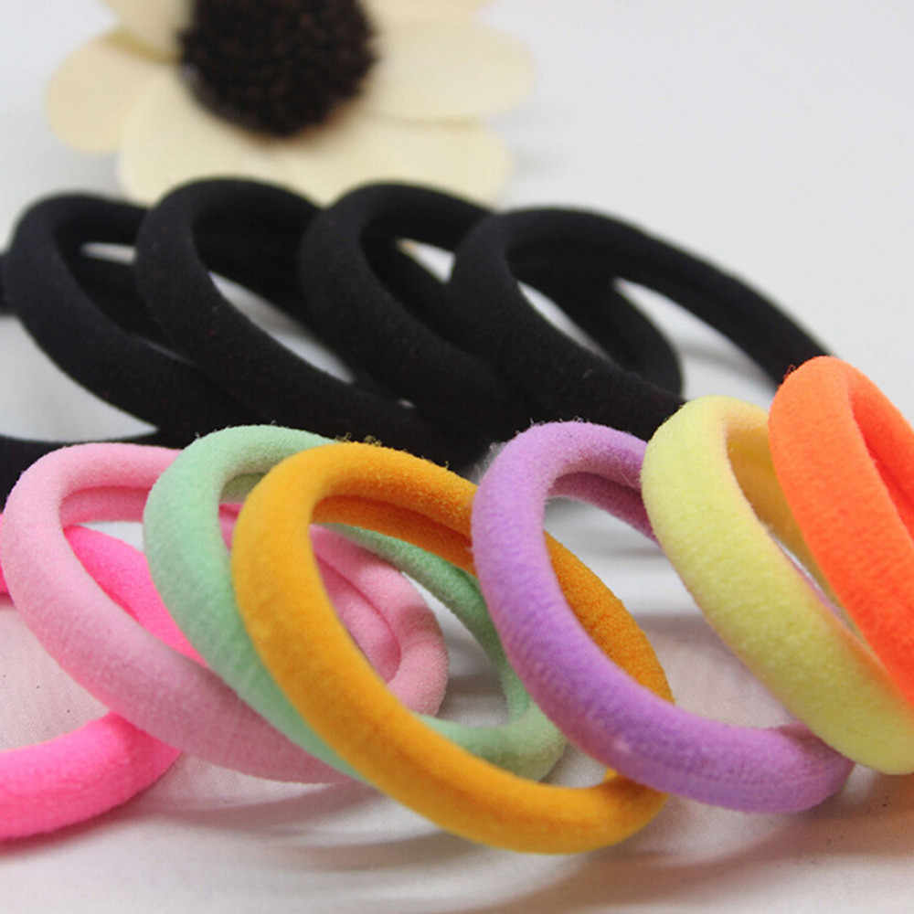 20 Pcs  Cute Girl Ponytail Hair Holder Hair Accessories Thin Elastic Rubber Band For Kids Female Adults Colorful Hair Ties 10.18
