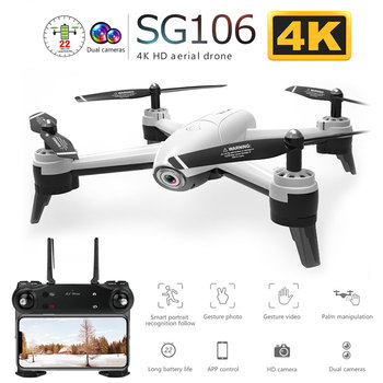 SG106 WiFi FPV RC Drone with 720P or 1080P or 4K HD Dual  Camera Optical Flow  Aerial Video RC Quadcopter for Toys Kid RC Dron 1