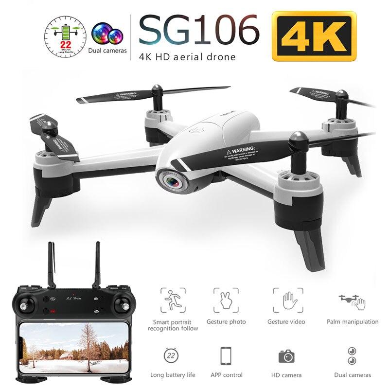 SG106 WiFi FPV RC Drone avec 720P ou 1080P ou 4K HD double caméra optique flux aérien vidéo RC quadrirotor pour jouets enfant RC Dron