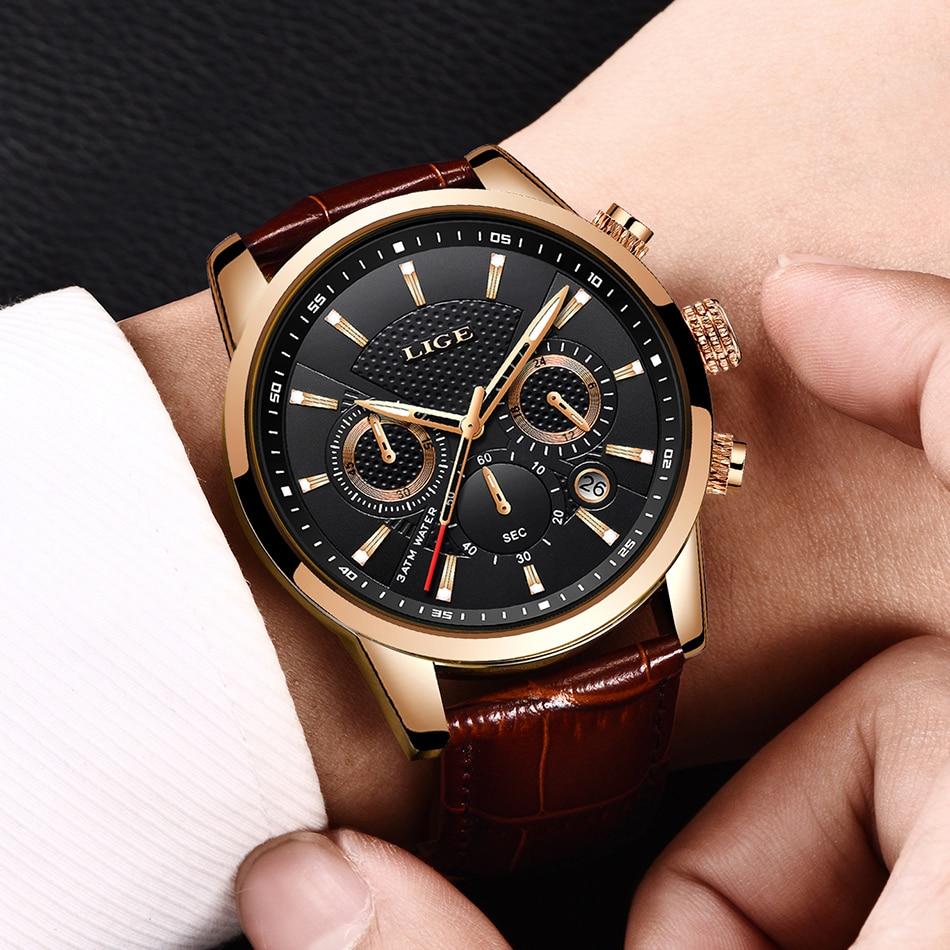 HTB1SVPDVb2pK1RjSZFsq6yNlXXaN LIGE 2020 New Watch Men Fashion Sport Quartz Clock Mens Watches Brand Luxury Leather Business Waterproof Watch Relogio Masculino