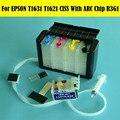 Европейская версия 4 цвета/набор T1621-T1624 СНПЧ система для EPSON WF2510/2520/2530/WF2540/2010/2630 принтер с чипом ARC