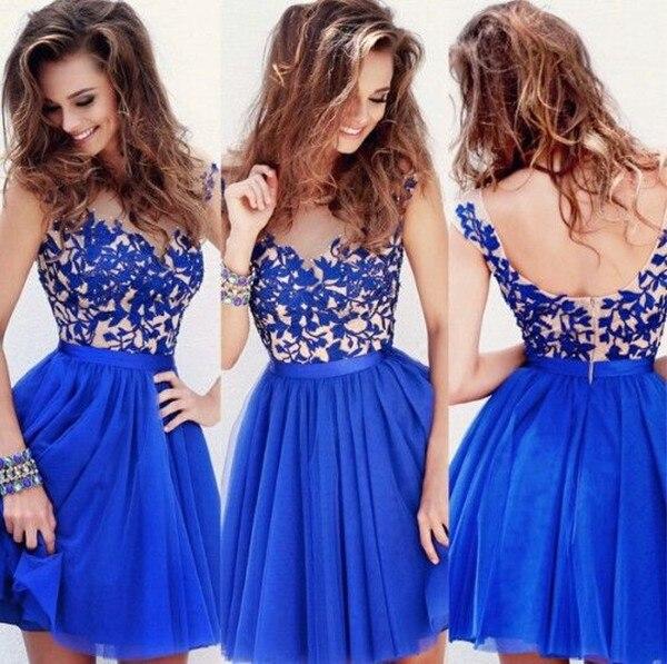 Vestidos tipo coctel azul
