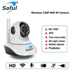 Saful HD 720P kamera IP bezprzewodowa kamera monitoringu z noktowizorem P2P sieć cctv nagrywanie dźwięku niania elektroniczna do domu w Kamery nadzoru od Bezpieczeństwo i ochrona na