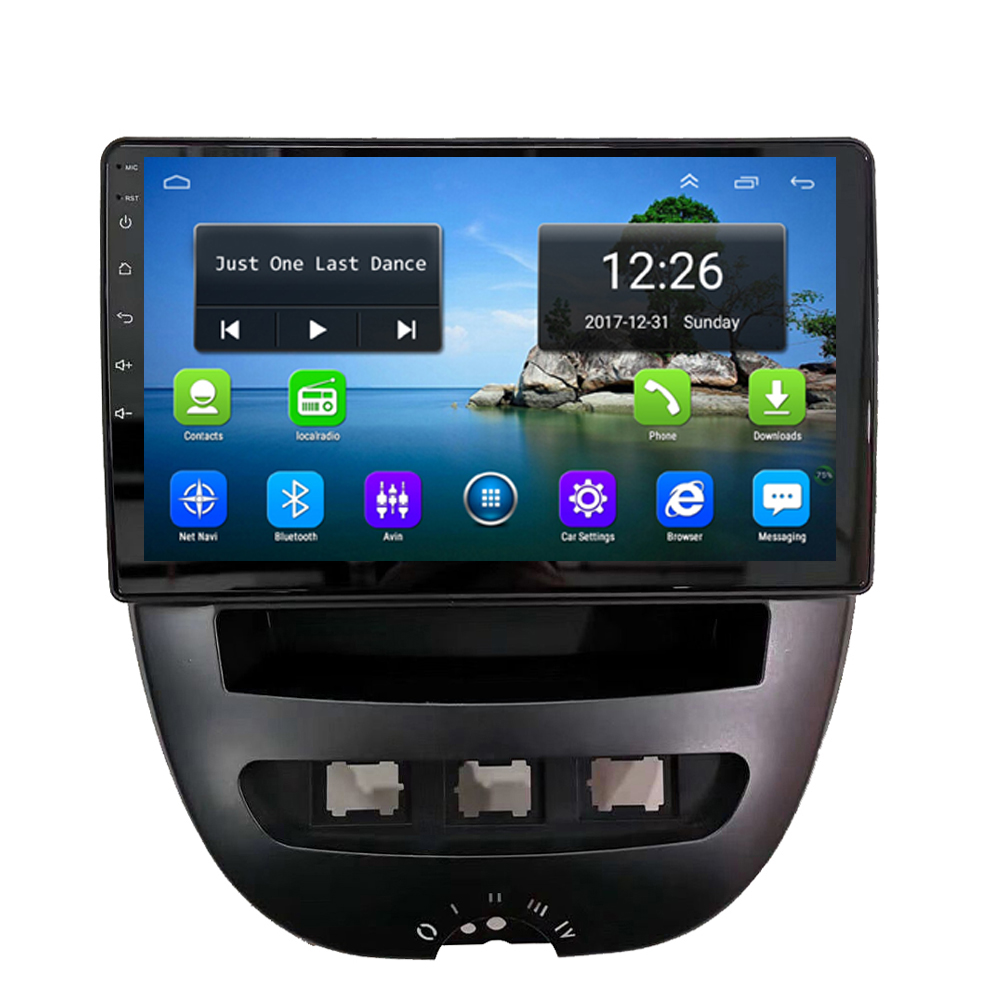 Android 4G LTE HD 1080P Car Precise GPS Navigation 4 Core 2GB DDR3 Map Multi-touch Screen Syetem Language  For Peugeot 107 9inch