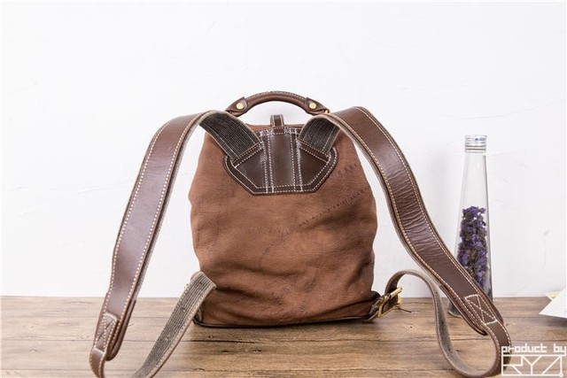 The new manual head layer cowhide backpack restoring ancient ways women's leather bags for women casual hand bag