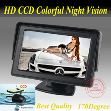 NEUE 4,3 zoll LCD-Monitor + 170 grad Rückfahrkamera Rückfahr Kit auto-kamera freies 5 mt kabel einparkhilfe kamera parkplatz kit