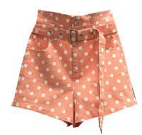 Polka Dot denim Shorts For Women 2019 Summer High Waist loose wide leg jeans shorts