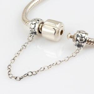 Безопасный цепь Бусы Аутентичные 925 серебро ювелирные изделия Подходит для Pandora браслет Бесплатная доставка