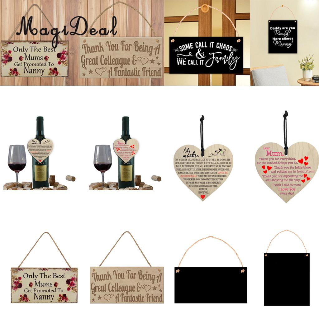 MagiDeal MDF Celebrations Birthday Reminder Calendar Board Wall Hanging Plaque Signs Tags, 6 Styles
