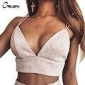 Moda Sexy Recortada Top Tanques Camis Mujeres Correa de Espagueti Sujetador Rosa V Cuello Mujeres Corto Tops blusa brandy melville QL2905