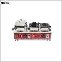 Xeoleo 2 Stuks Vis Mallen Ijs Taiyaki Machine Vis Wafelijzer Commerciële Elektrische Open Mounth Snack Apparatuur 3200W 220V