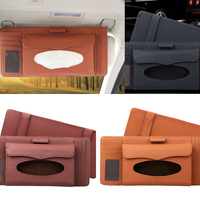 Accessories Litchi Grain Tissue Box Auto Paper Towel Bag Boxed CD Clip Card Slotcar CD Triad