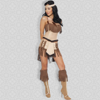 Free Shipping Top Fashion Women Party Costumes Unique Design Halloween Indian Costumes