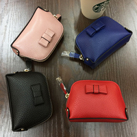 Famous Brand Small Coin Purse Women Genuine Leather Zipper Cow Leather Wallet Women Vintage Mini Luxury