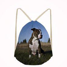 Casual Men American Staffordshire Terrier Dog Lover Small Children School Bag Kids Backpack Bags Boys Drawstring Bag Mochila