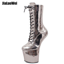 Seksowne buty do tańca platforma klinowa fetysz Heelless sznurowane buty końskie Cosplay buty do kucyków