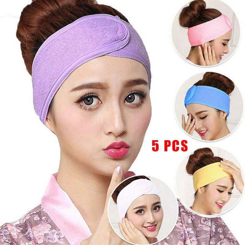 ①  5 Шт. Женщины Полотенце для Волос Wrap Широкий Повязка на голову Ванна Душ Йога Спорт Макияж ASD88 ✔