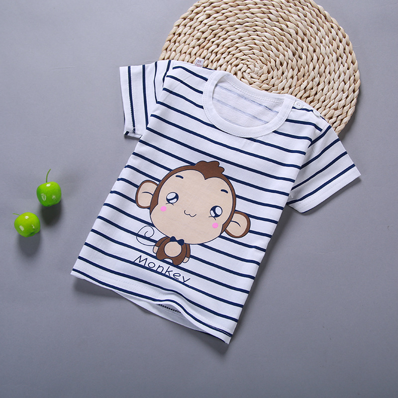 Summer Boys Girls T Shirt Kids Clothes Boys Cartoon Cotton T Shirt Girls Short Sleeve Soft Tops Children Clothing Print T-Shirts