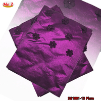 Mr Z Applique Design African Sego Gele With Beads 2Pieces Set Shinning Strong Nigerian Headtie In