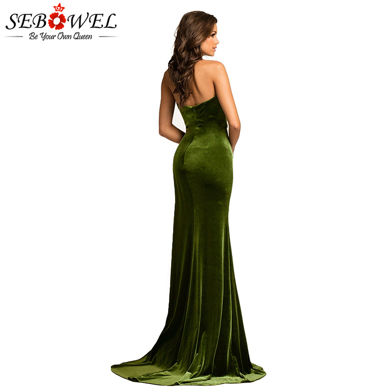 Green-Thigh-High-Split-Velvet-Evening-Gown-LC610993-9-2