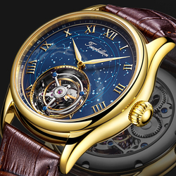 Guanqin 100% ريال توربيون رجالي الساعات الميكانيكية ساعة ماركة فاخرة الرجال على مدار الساعة مقاوم للماء الياقوت Relogio Masculino
