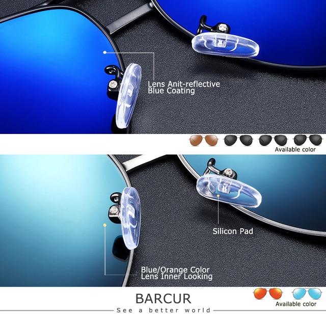 BARCUR Aluminum Magnesium Men's Sunglasses Men Polarized Coating Mirror Glasses oculos Male Eyewear Accessories For Men 4
